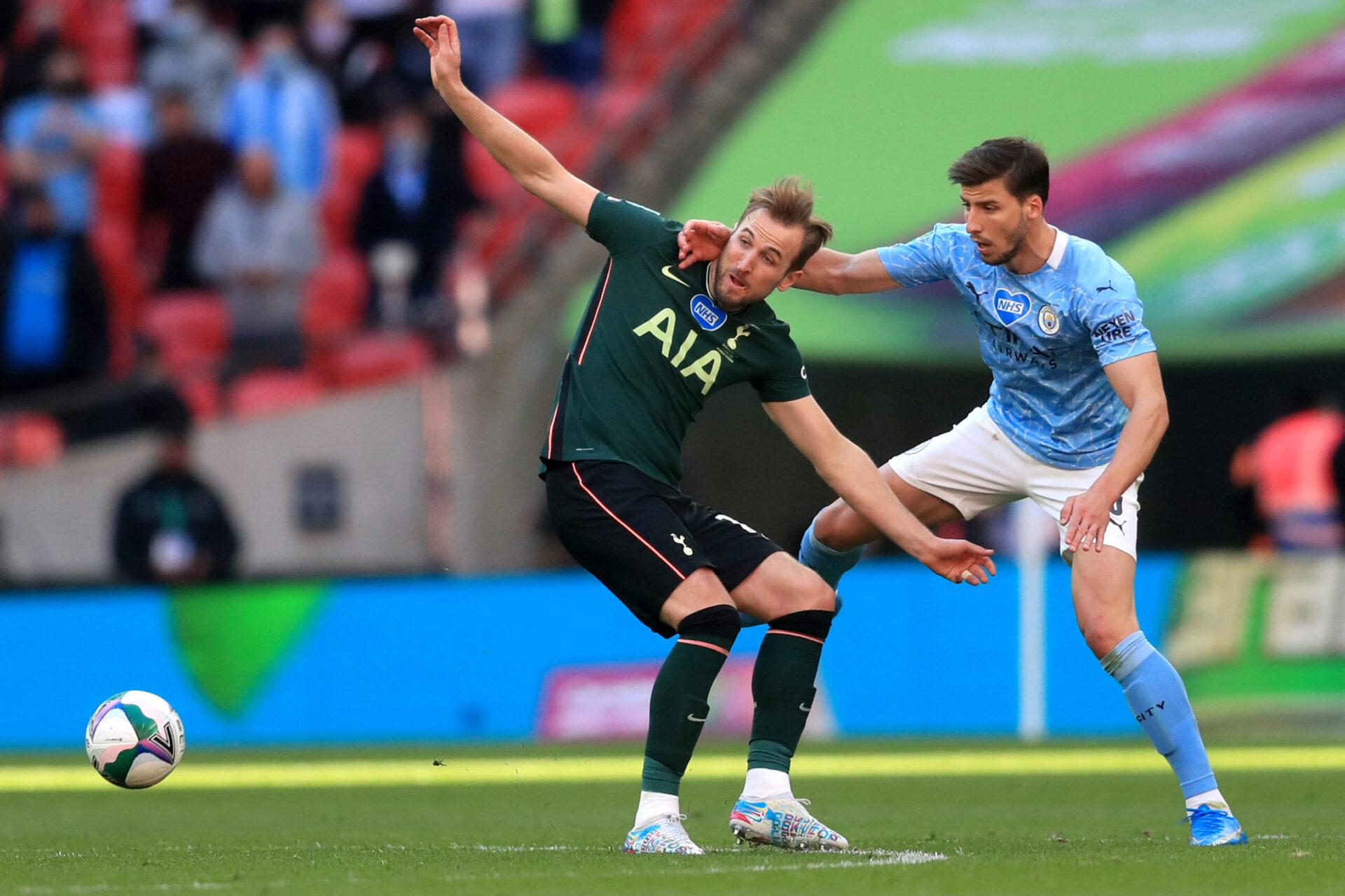 Harry Kane et Ruben Dias pourraient rapidement le même maillot, celui de Manchester City. Icon Sport