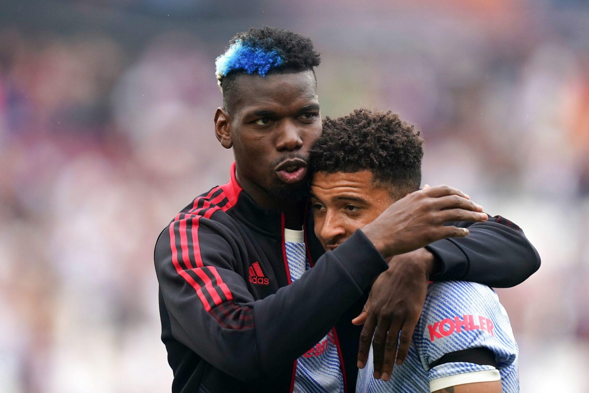 En plus de celles de Varane et Ronaldo, l'arrivée de Jadon Sancho serait l'une des raisons pour lesquelles Pogba voudrait signer un nouveau contrat à United (iconsport)