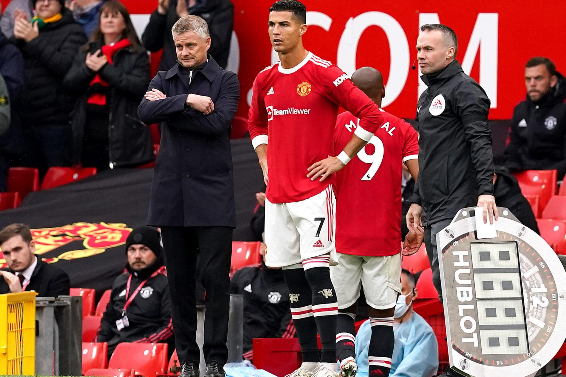Cristiano Ronaldo a démarré la rencontre sur le banc contre Everton, et il n'a pas pu aider Manchester United à ramener la victoire après son entrée en jeu. Icon Sport
