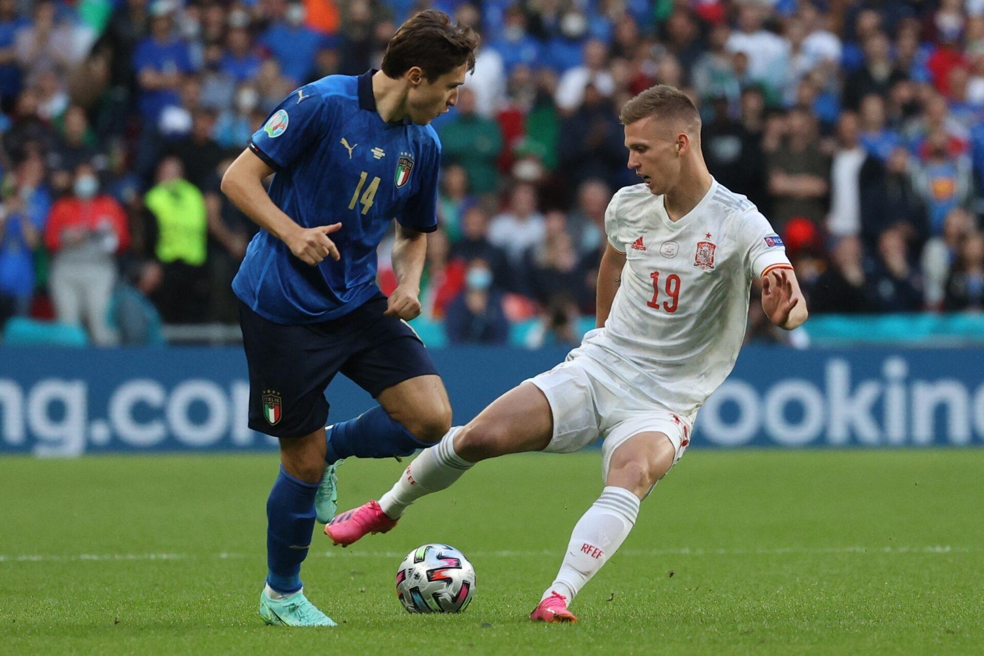 Trois mois après leur affrontement à l'Euro, l'Italie et l'Espagne se feront face pour une place en finale de Ligue des nations (iconsport)