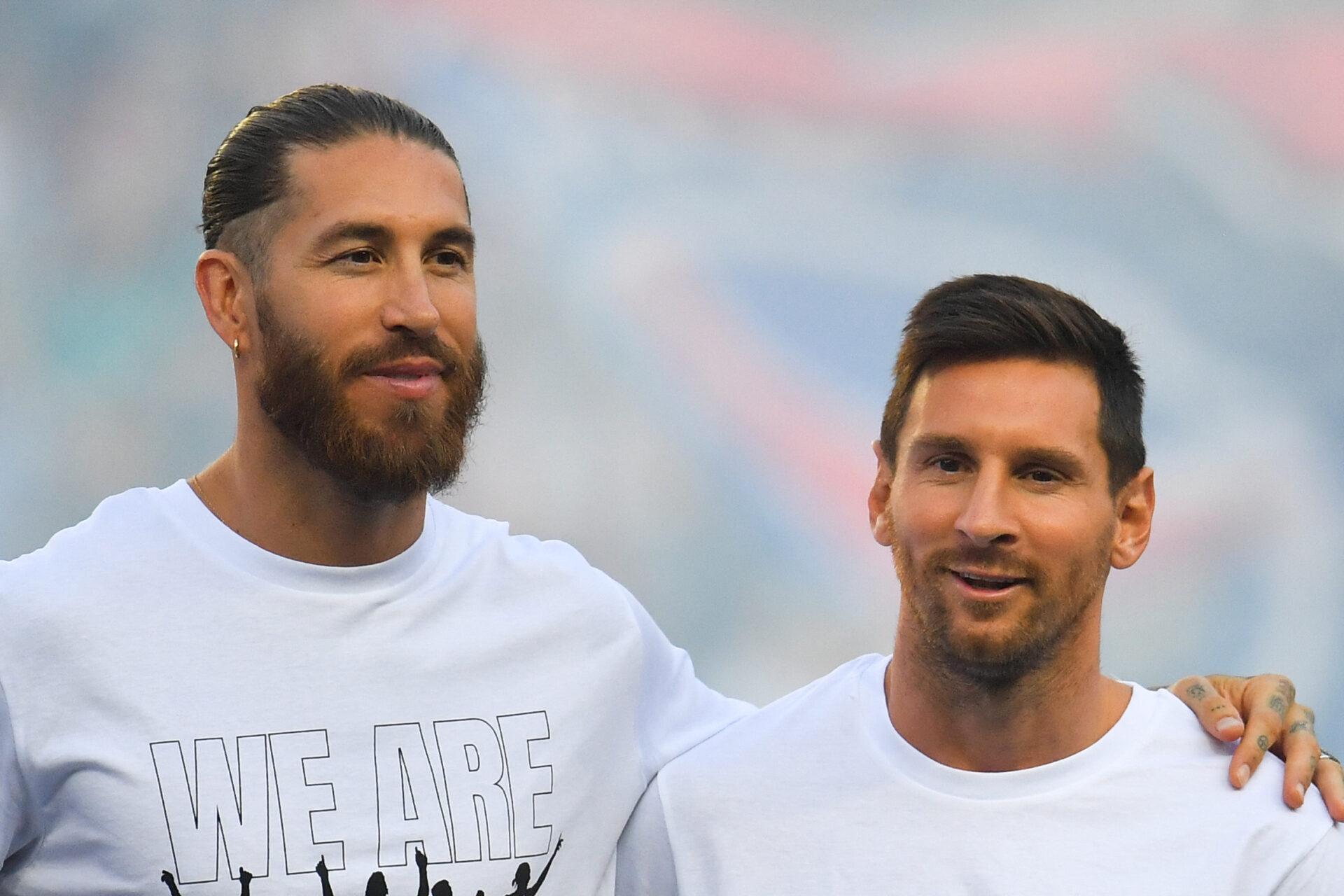 Sergio Ramos n'a pas encore eu l'occasion de jouer avec Lionel Messi sous les couleurs du PSG (iconsport)