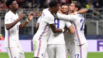 L'équipe de France remporte la Ligue des nations et succède au Portugal, en s'imposant face à l'Espagne à San Siro. Icon Sport