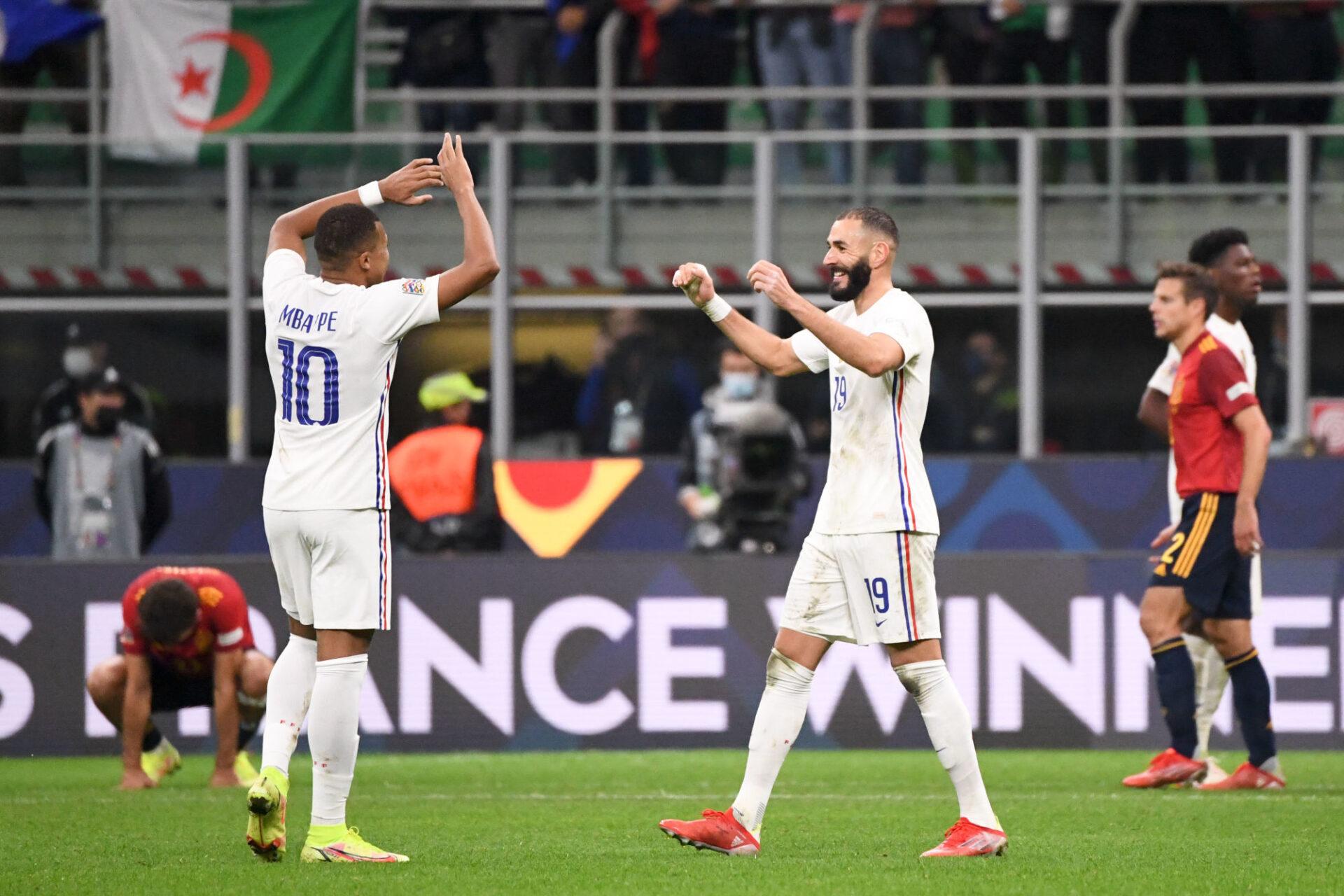 Karim Benzema et Kylian Mbappé coéquipiers en équipe de France... et bientôt au Real Madrid ? Icon Sport