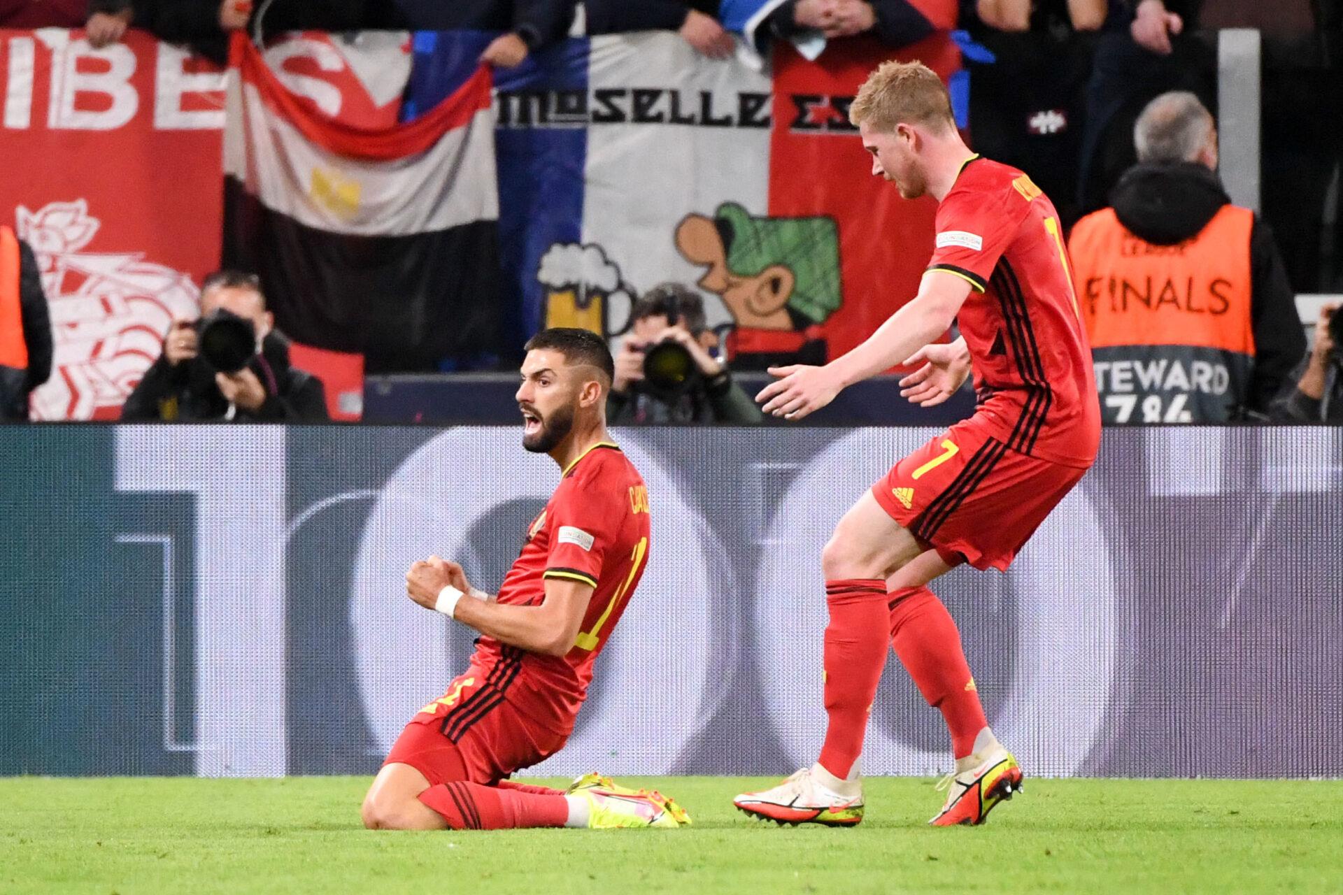 Carrasco titulaire, De Bruyne sur le banc avec la Belgique (iconsport)