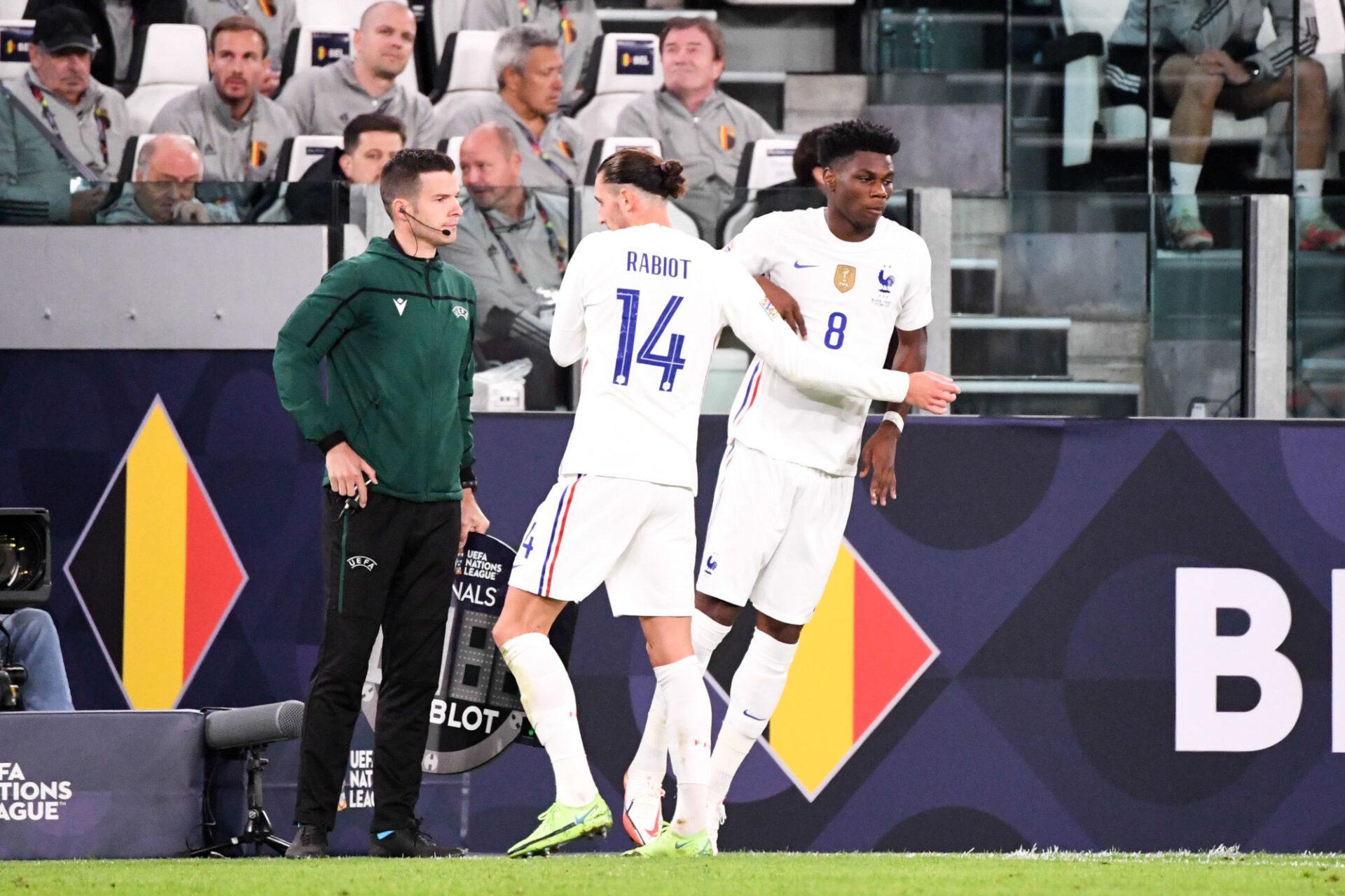 Adrien Rabiot avait été remplacé par Aurélien Tchouaméni à la 75e minute de Belgique-France (3-2), jeudi 7 octobre en demi-finale de la Ligue des nations. Icon Sport