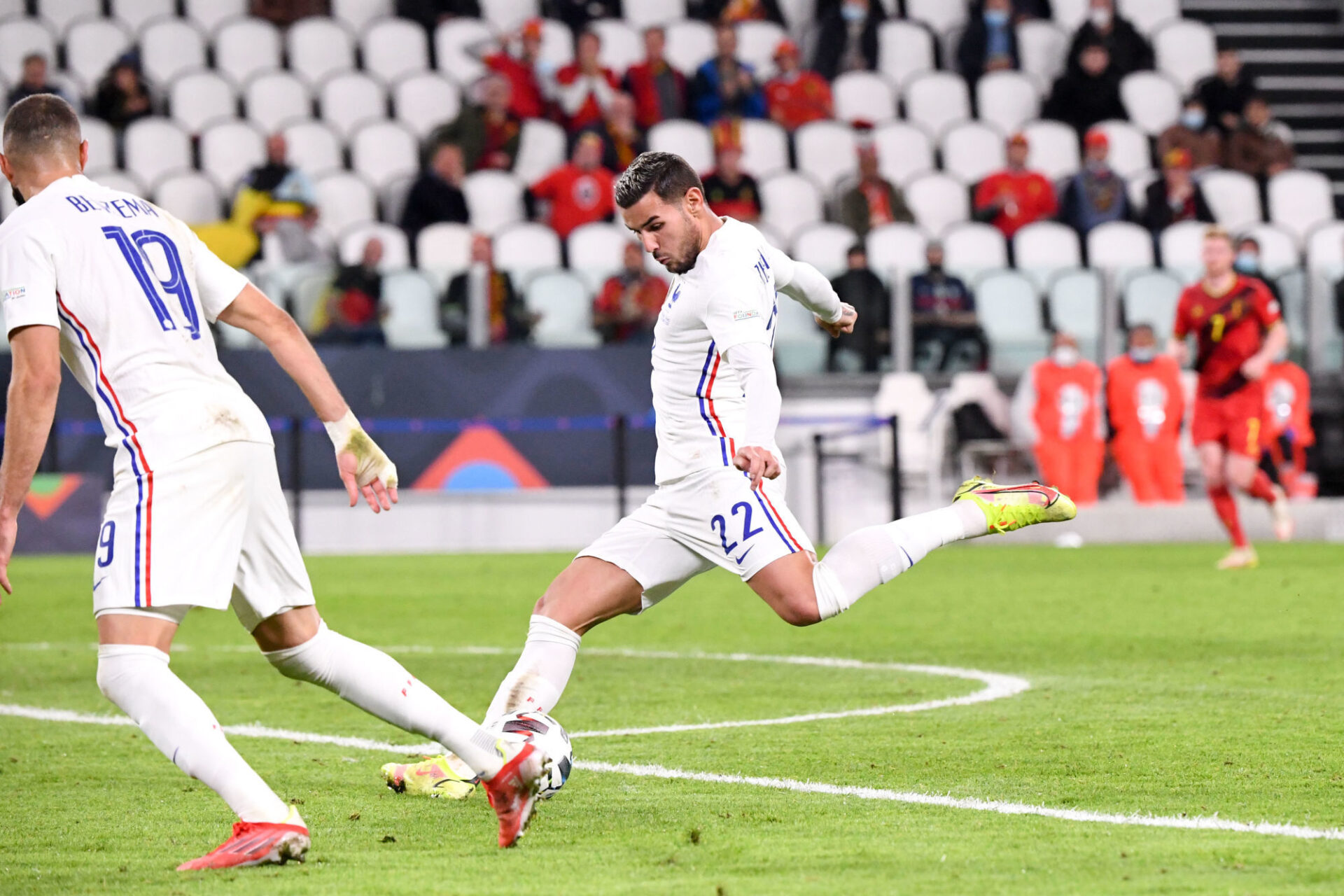 Theo Hernandez a raconté son but décisif contre la Belgique. Icon Sport