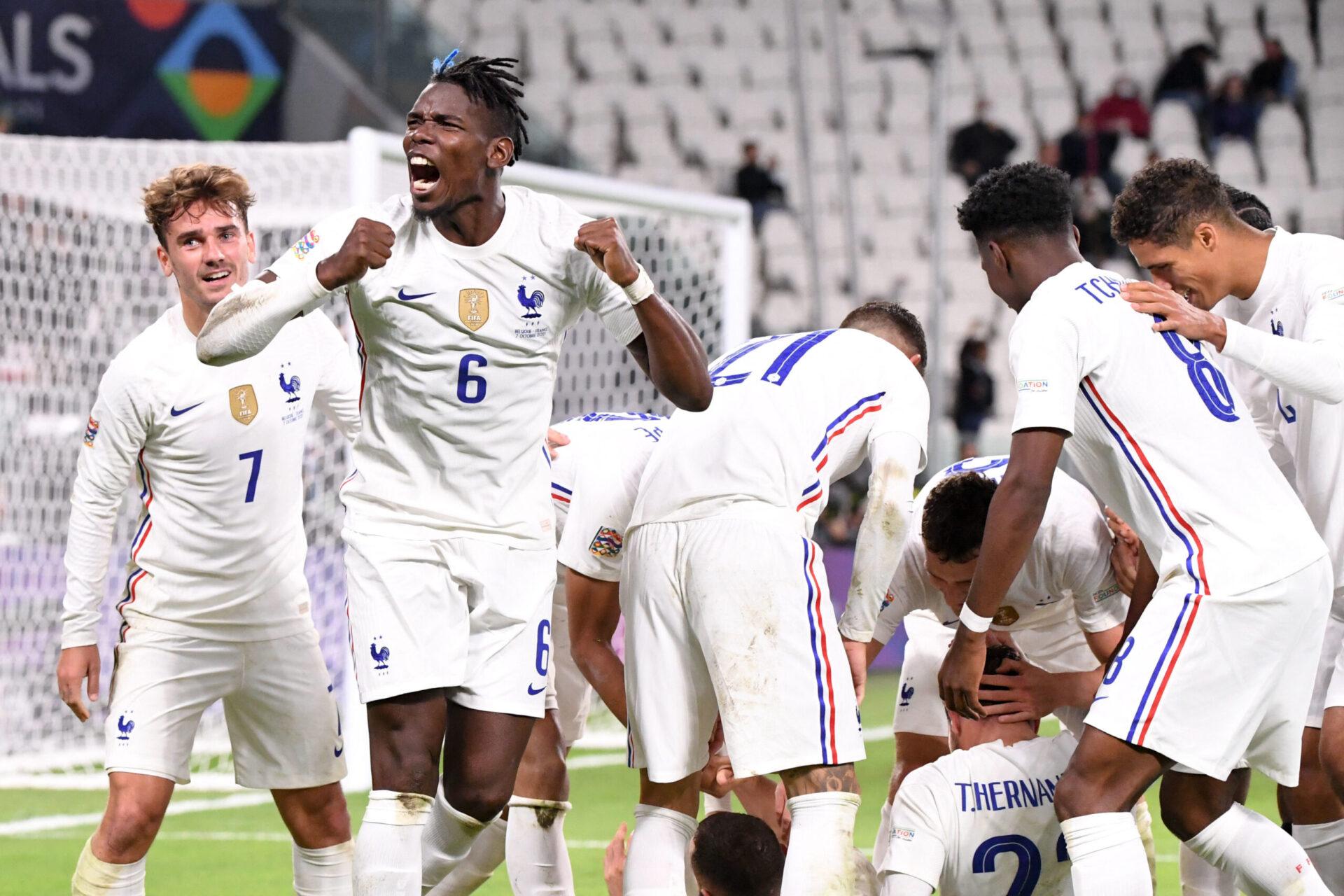 Menés à la pause, les Bleus ont tout renversé en seconde période pour envoyer la France en finale de Ligue des nations (iconsport)