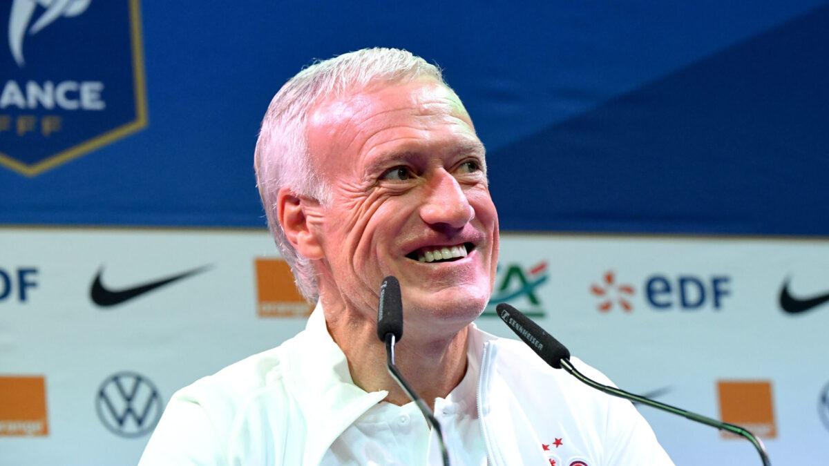 En conférence de presse, Didier Deschamps a expliqué que les Bleus visaient la victoire finale au Final 4 de la Ligue des nations (iconsport)