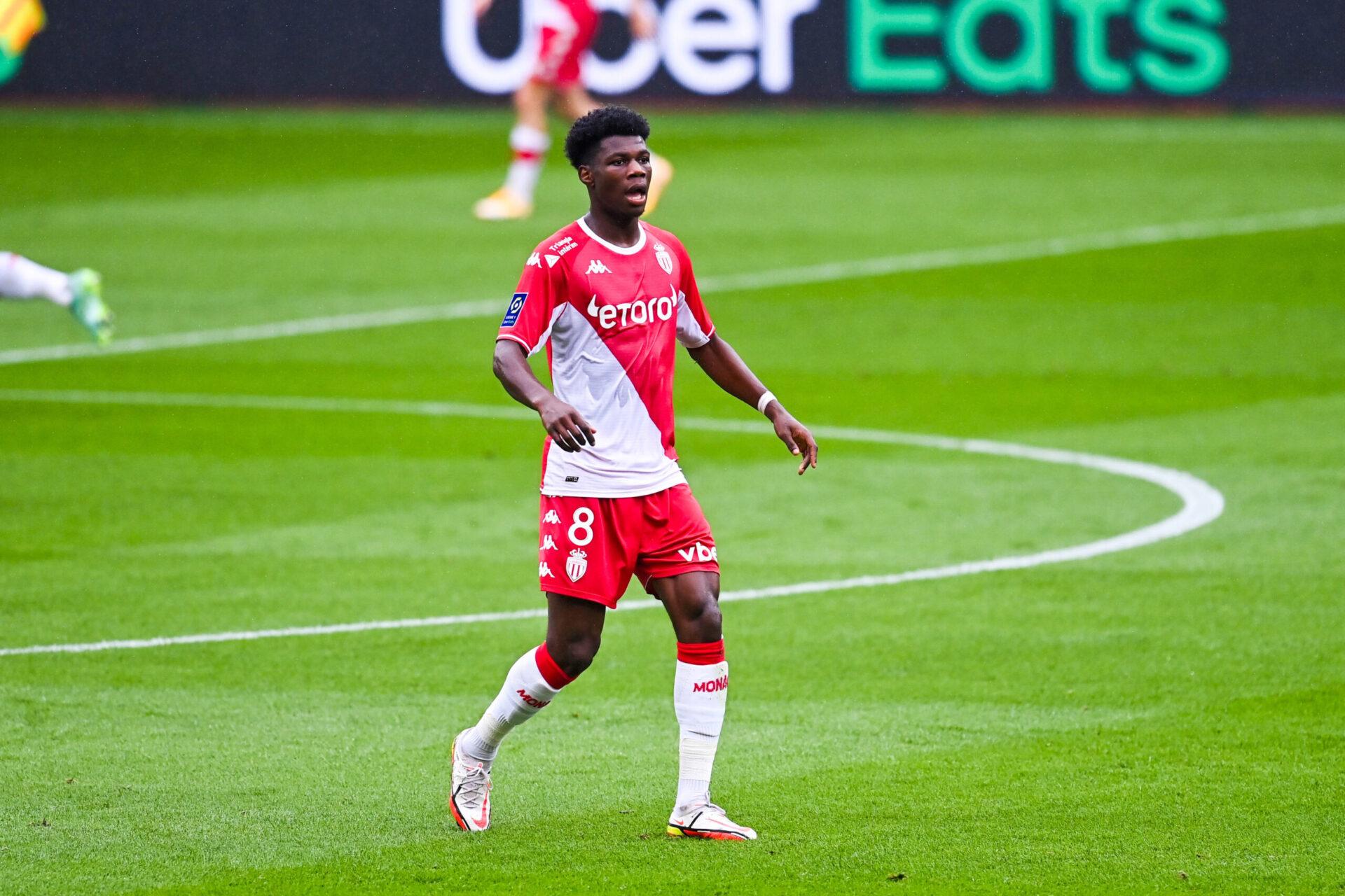 Aurélien Tchouaméni a ouvert son compteur but en Ligue 1 cette saison, face à son ancien club, les Girondins de Bordeaux. Icon Sport
