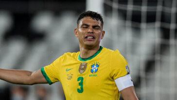 Thiago Silva avec l'équipe nationale du Brésil. Icon Sport