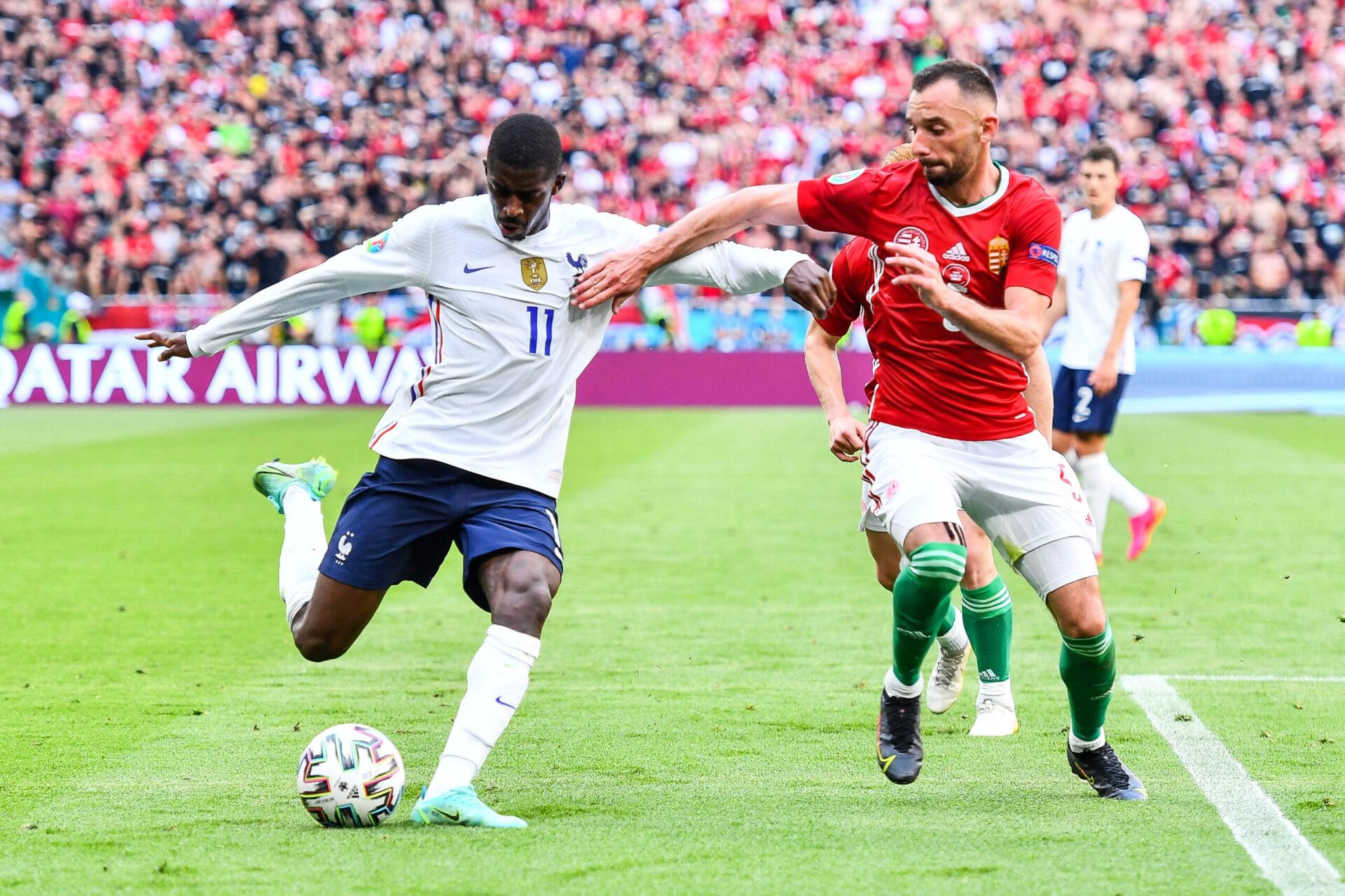 Blessé à l'Euro avec les Bleus, Ousmane Dembélé n'est pas encore apparu avec le Barça en 2021-2022 (iconsport)