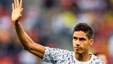 Raphaël Varane était en conférence de presse avant la rencontre entre l'équipe de France et la Belgique. Icon Sport