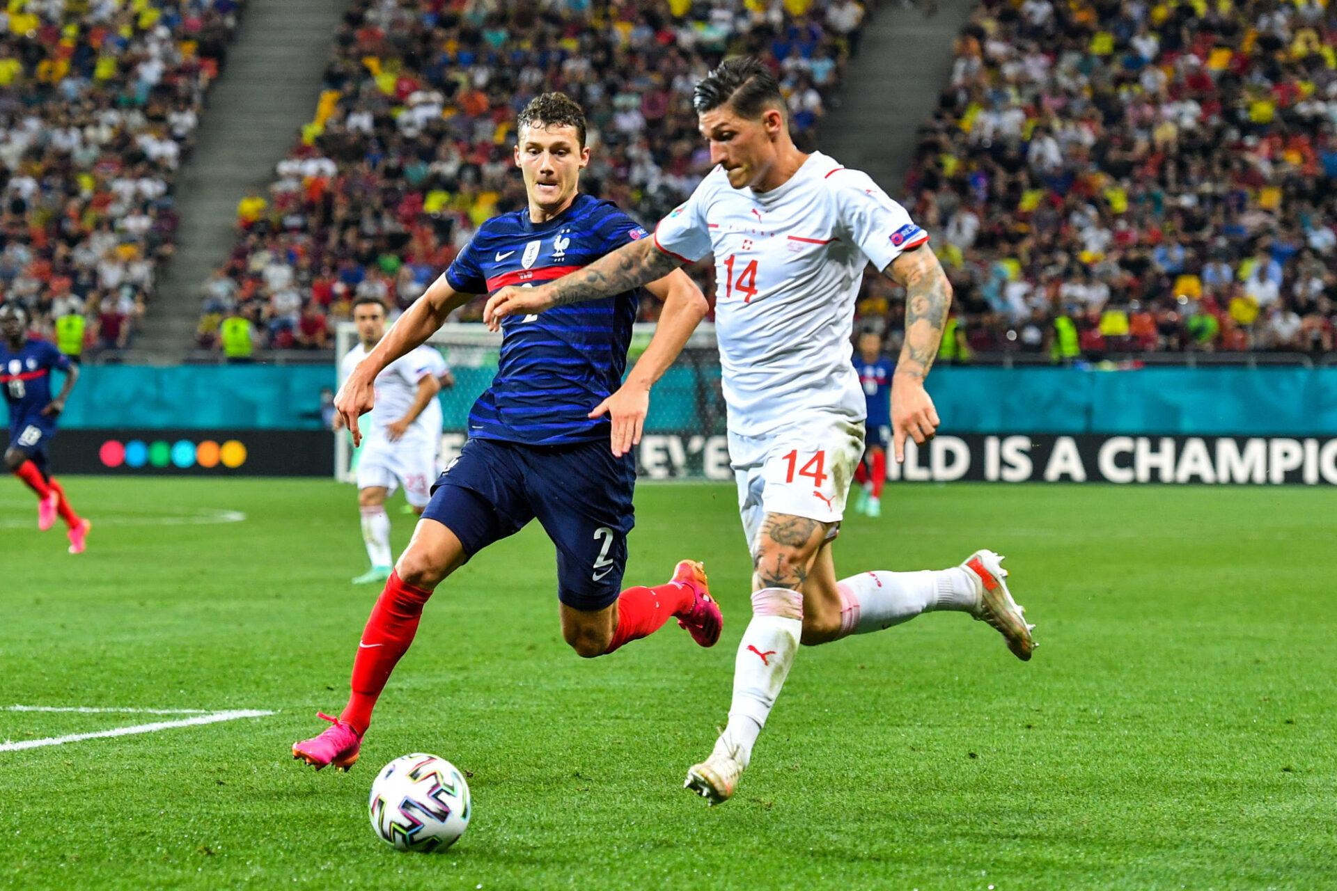 Benjamin Pavard est tout sauf un piston droit, comme il l'a montré lors de son naufrage face à la Suisse à l'Euro. Icon Sport