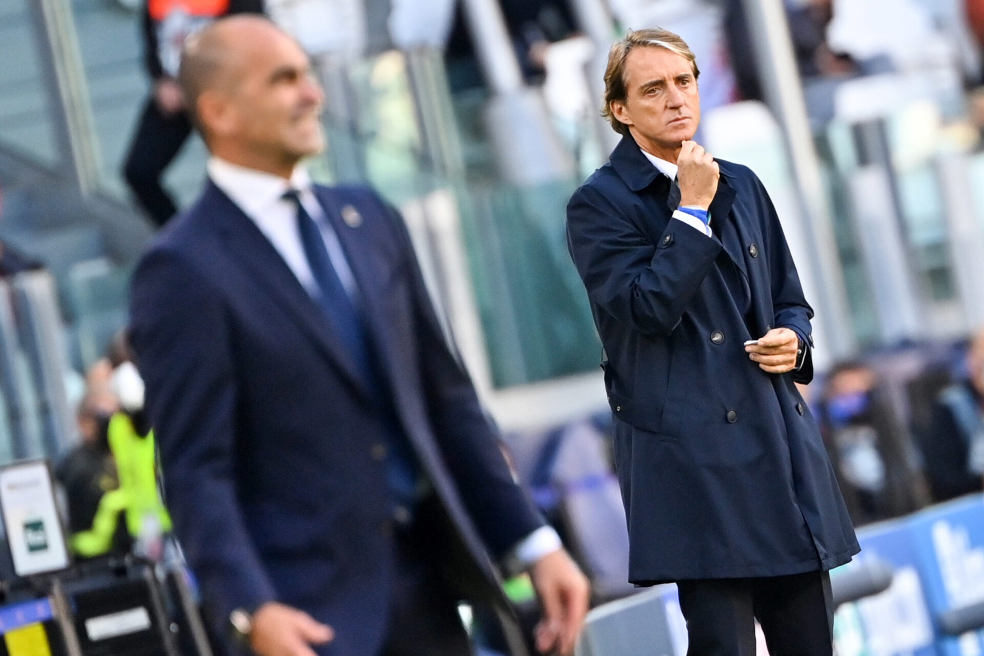 Roberto Mancini sur le banc italien (iconsport)