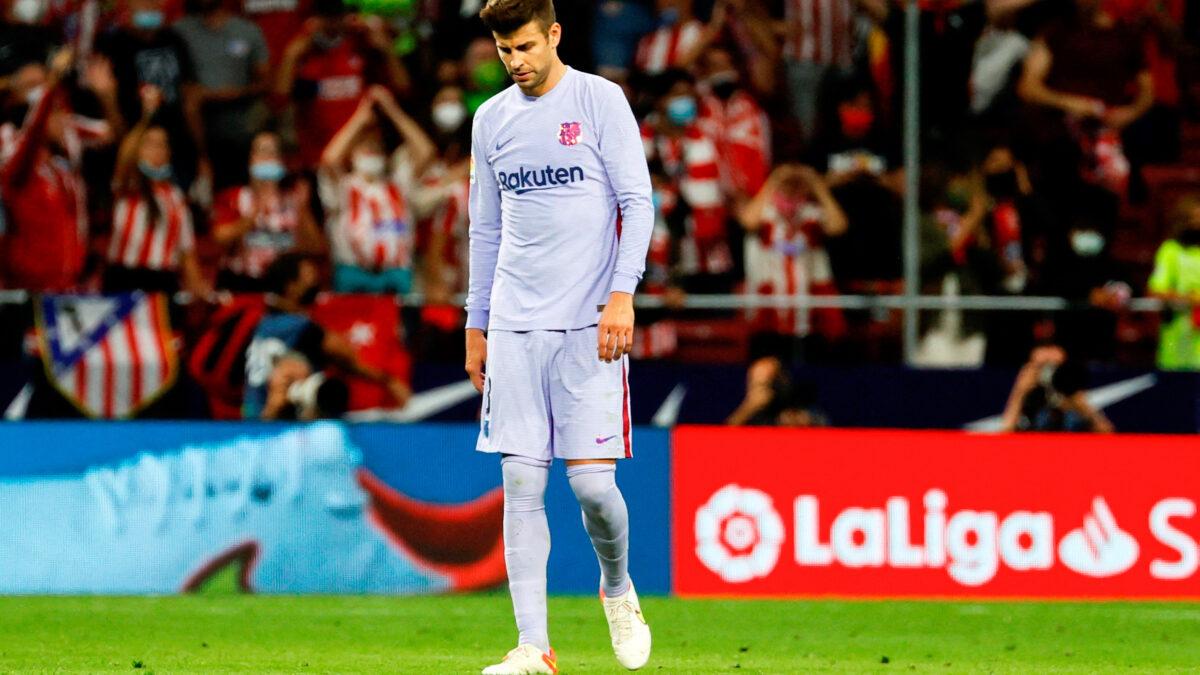 Gerard Piqué et le Barça ont encore essuyé un revers en Liga, cette fois-ci contre l'Atlético de Madrid. Icon Sport