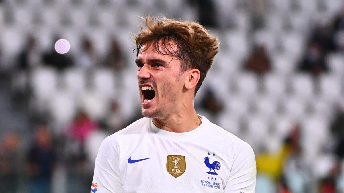 Antoine Griezmann et les Bleus ont retrouvé des valeurs mentales contre la Belgique. Icon Sport