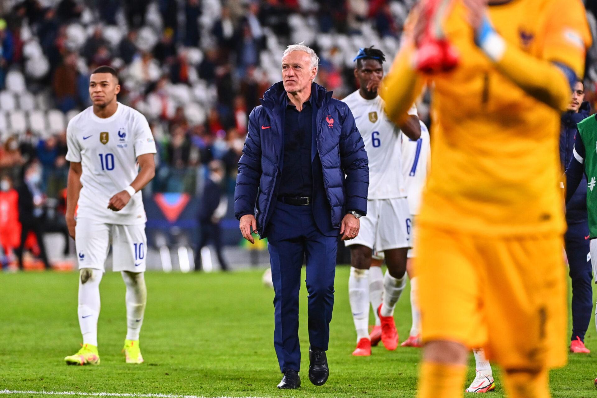 Didier Deschamps après la victoire contre la Belgique (iconsport)