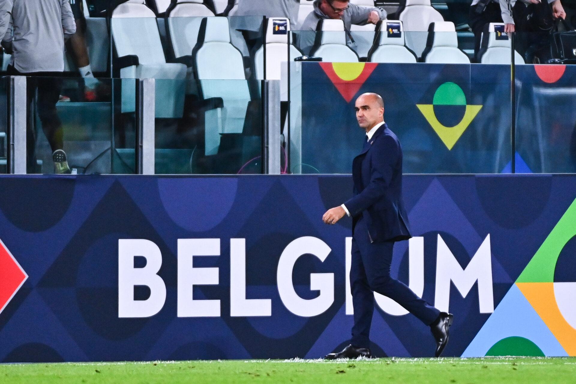 La déception de Roberto Martinez après la rencontre (iconsport)