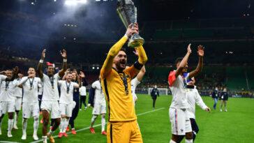 Les joueurs de l'équipe de France sacrés en Ligue des nations vont chacun percevoir 55.000 euros (iconsport)