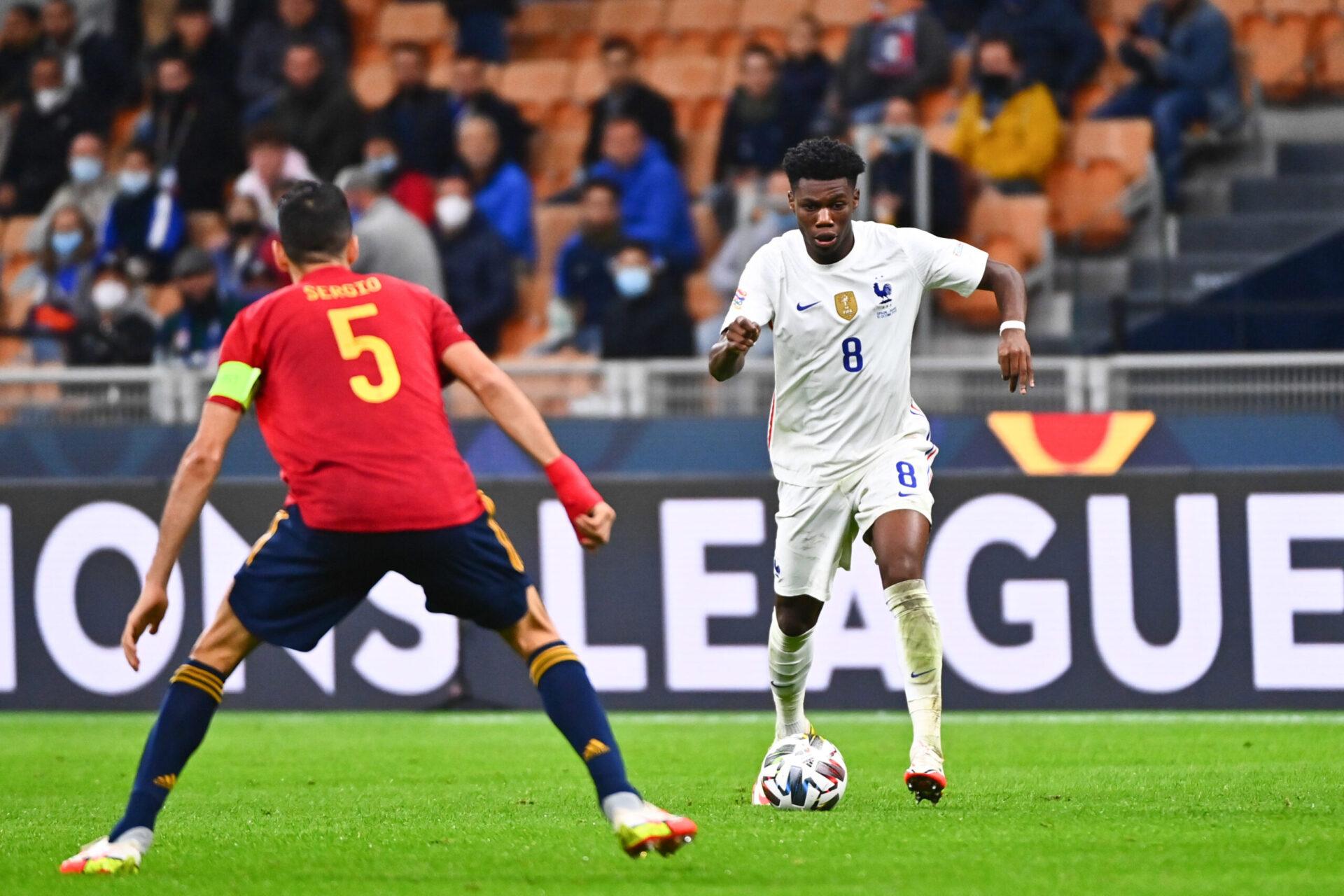 Aurélien Tchouaméni, titulaire avec l'équipe de France lors de la finale de la Ligue des Nations face à l'Espagne (IconSport)