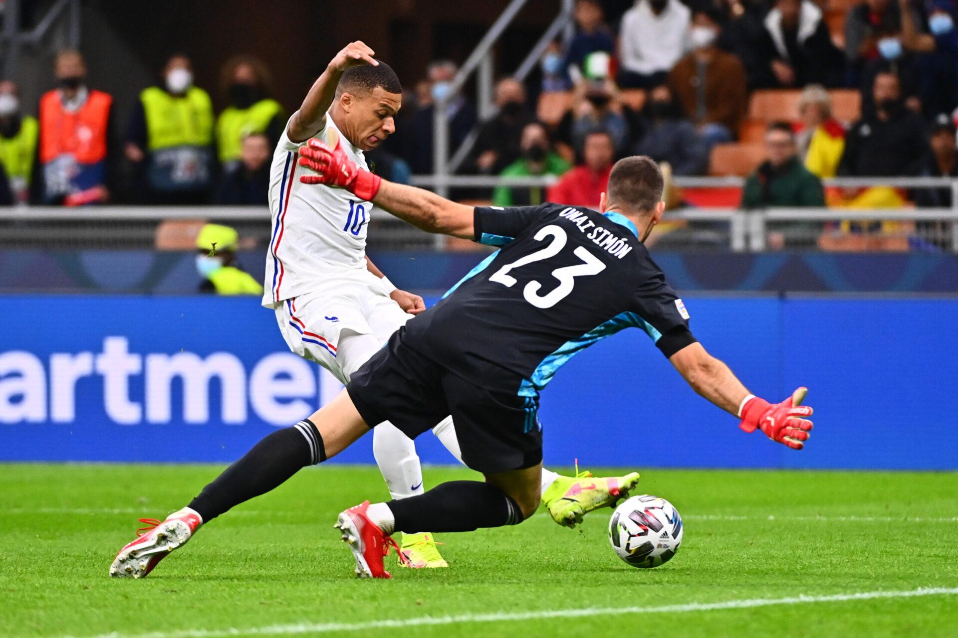 Kylian Mbappé a donné la victoire à l'équipe de France en finale de la Ligue des nations contre l'Espagne. Icon Sport