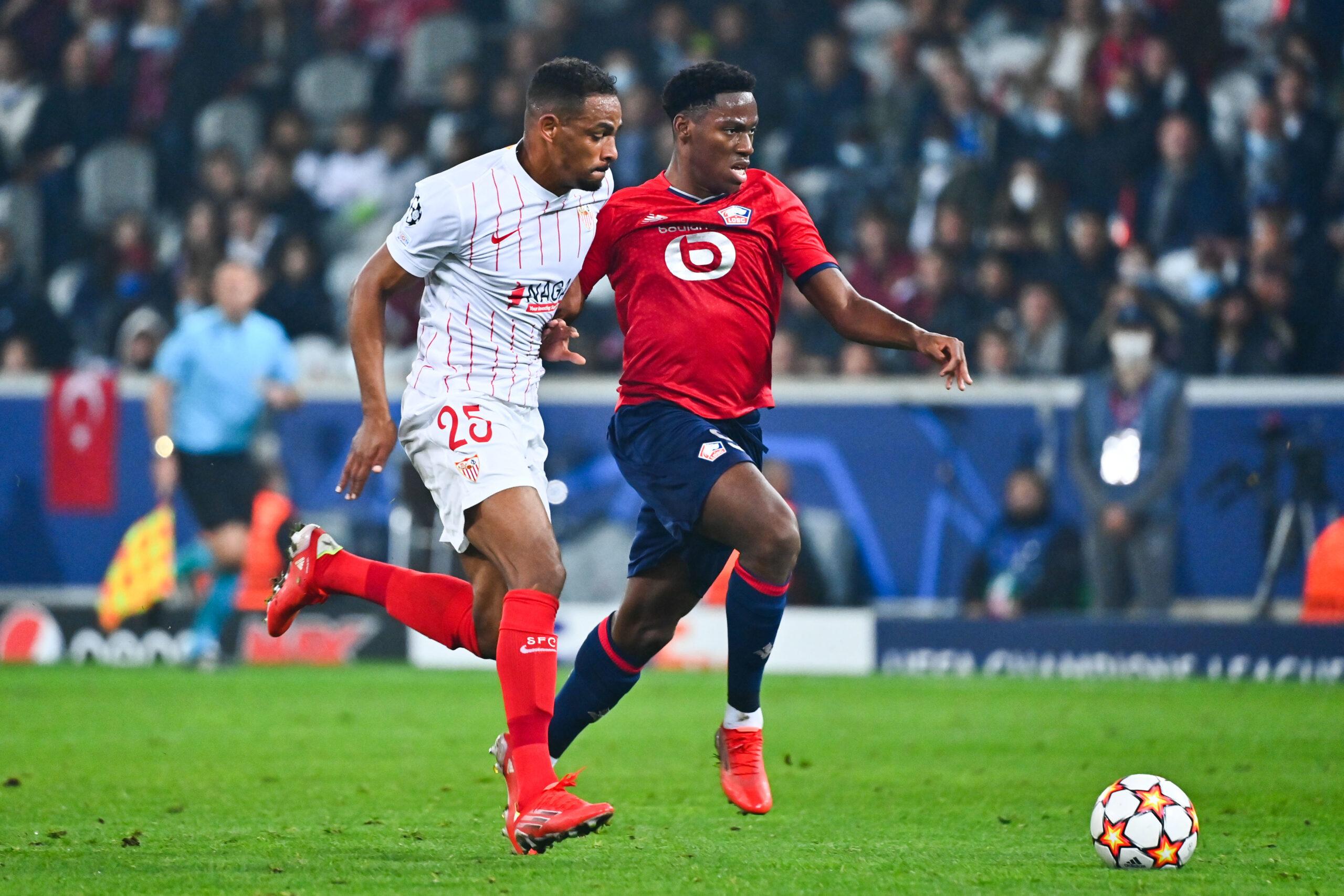 David et Lille ne sont pas parvenus à faire mieux que match nul face à Séville ce mercredi 20 octobre (iconsport)