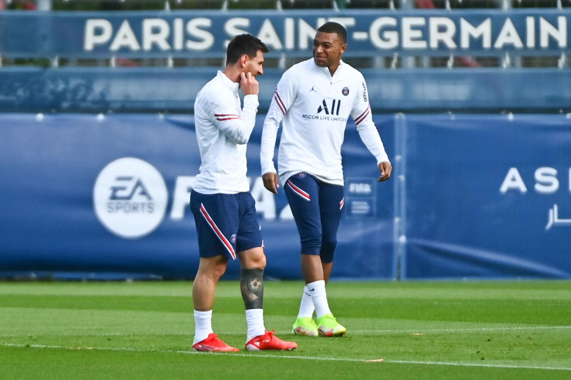 Kylian Mbappé s'amuse comme un fou avec Lionel Messi comme coéquipier. Icon Sport