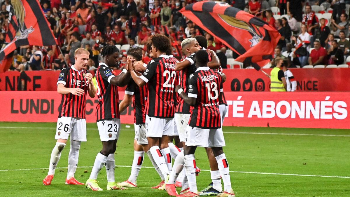 Nice a dominé Brest et remonte troisième de Ligue 1. Icon Sport