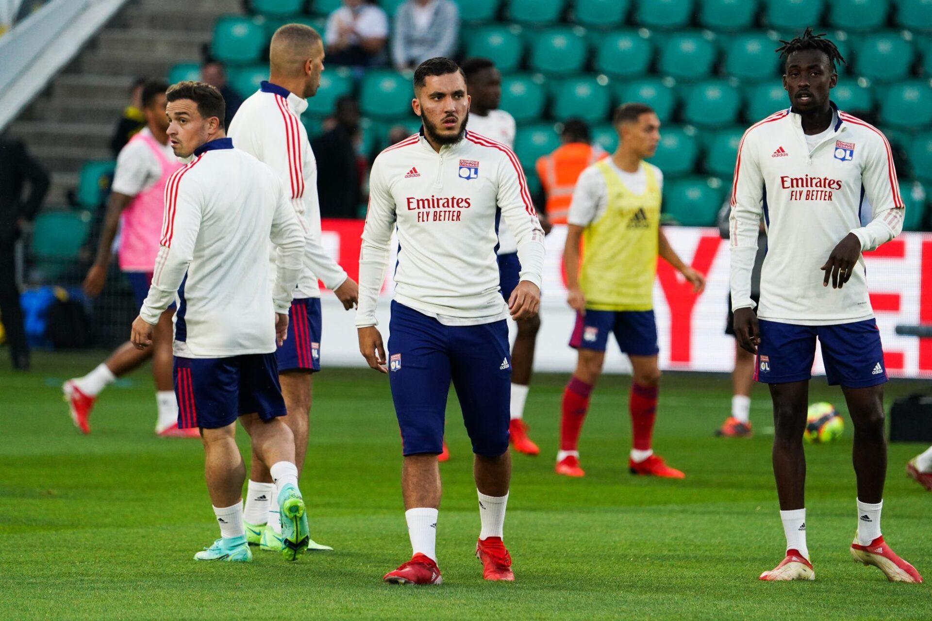 Rayan Cherki affirme effectuer un gros boulot à l'entraînement pour progresser. Icon Sport