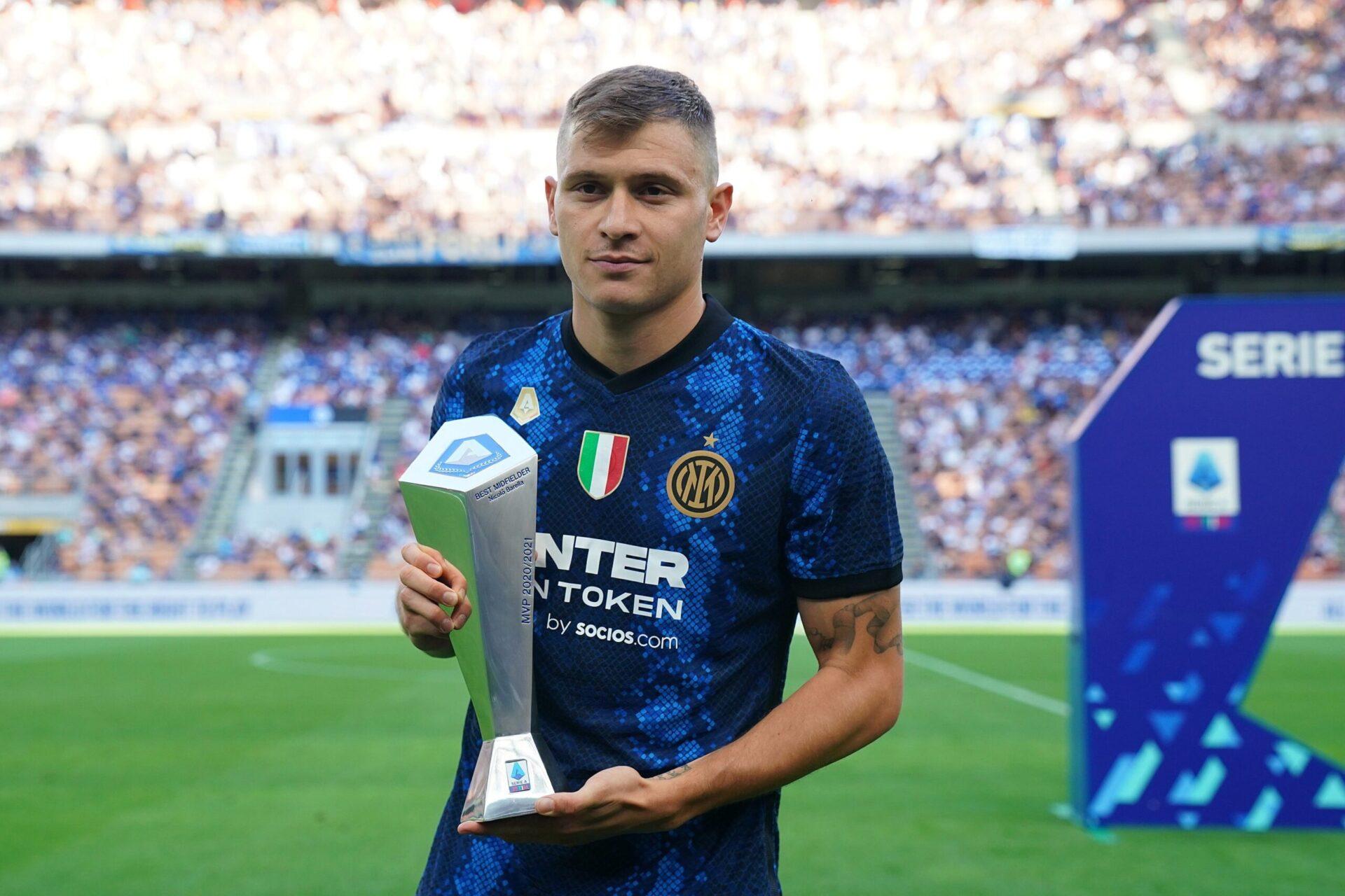 Barella a récemment été élu meilleur milieu de terrain de la saison 2019/2020 (iconsport)