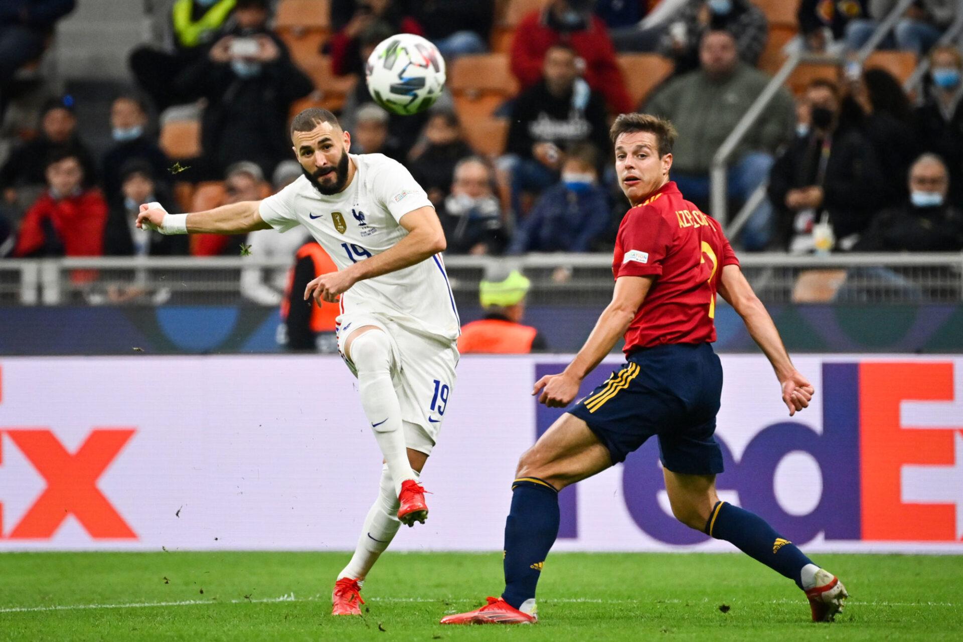 Karim Benzema a envoyé un splendide enroulé du droit en lucarne pour égaliser. Icon Sport