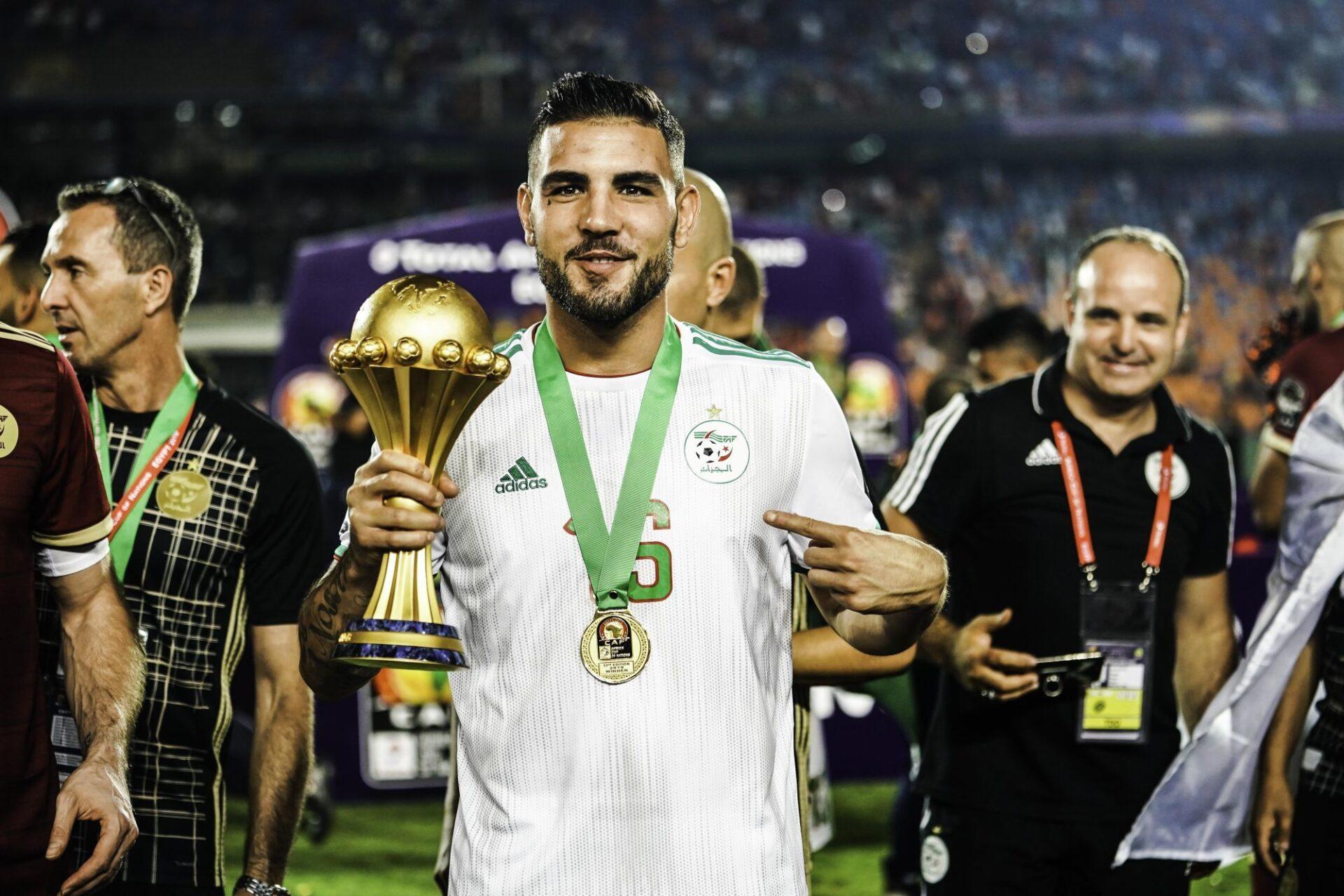 Andy Delort a remporté la Coupe d'Afrique des Nations en 2019 avec l'Algérie. Icon Sport
