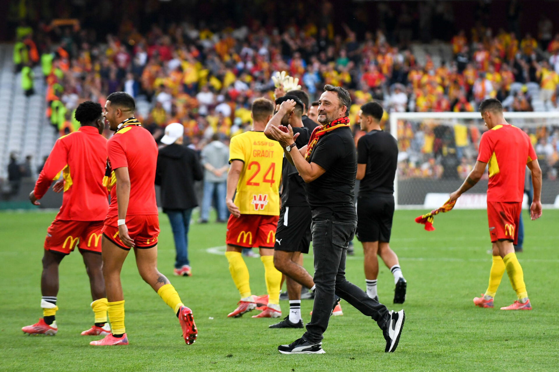 Franck Haise accomplit un boulot remarquable à la tête du RC Lens. Icon Sport