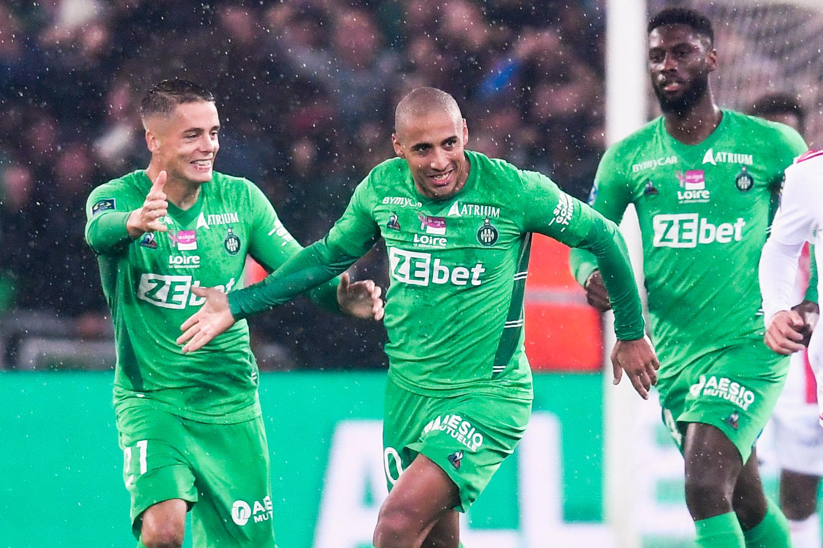 Saint-Étienne a égalisé dans les derniers instants du match face à Lyon (iconsport)