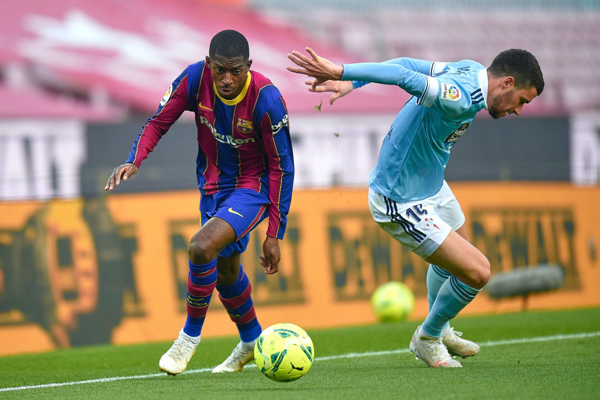 La situation contractuelle de Dembélé ne laisse pas insensibles Liverpool et Manchester United (iconsport)