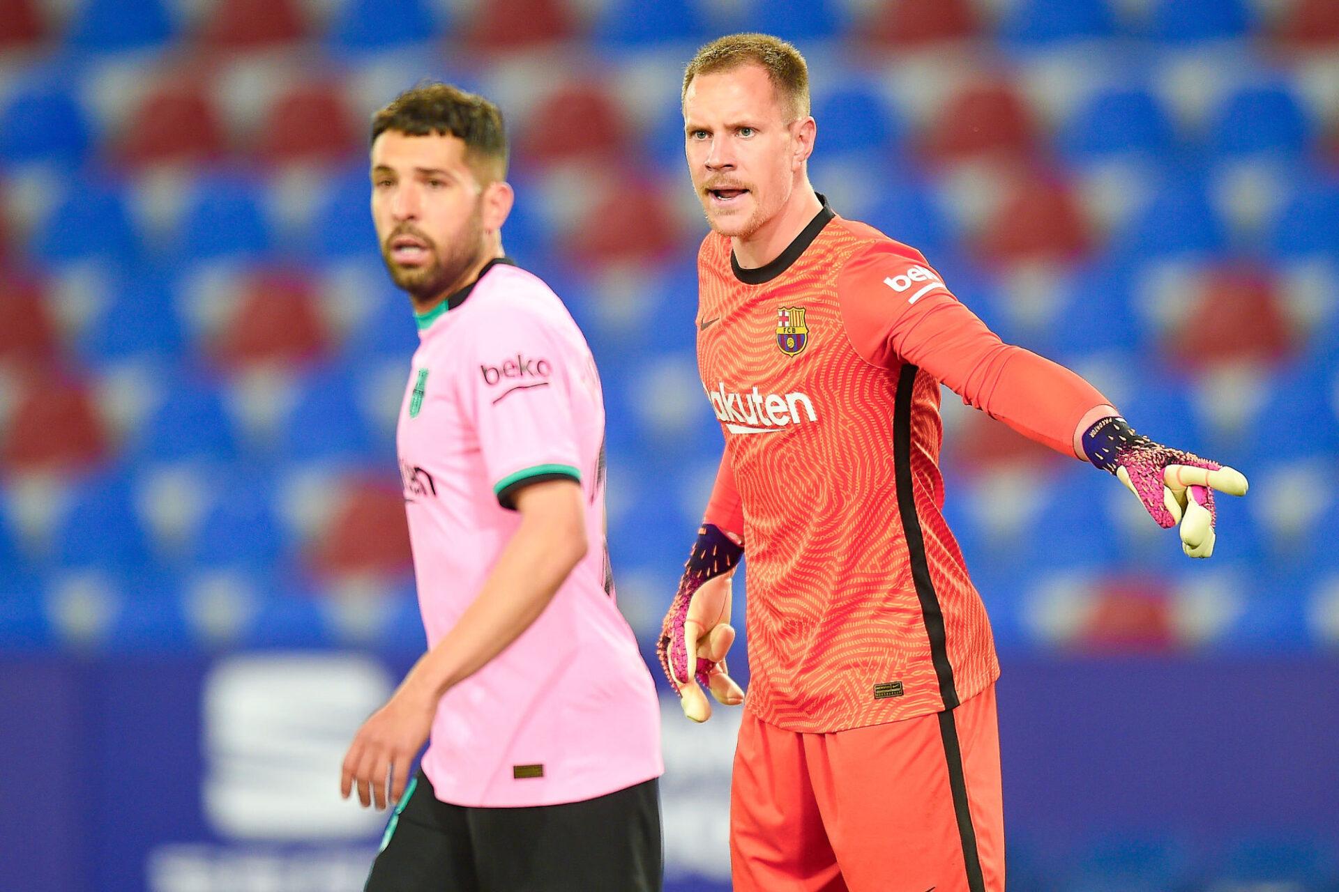 Jordi Alba et Marc-André ter Stegen n'incarnent plus la fiabilité au Barça. Icon Sport