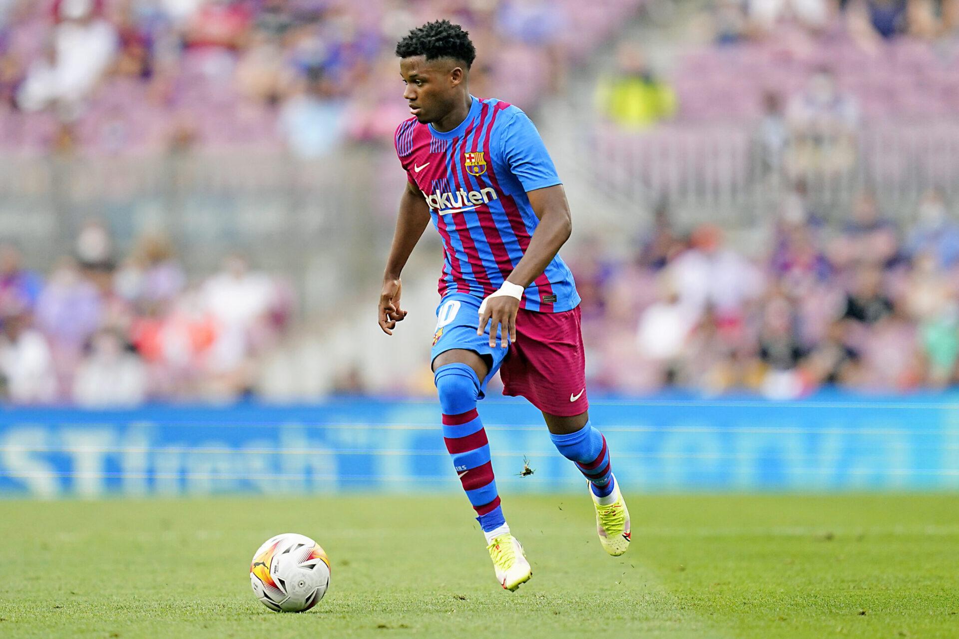 Ansu Fati sous les couleurs du FC Barcelone (IconSport)