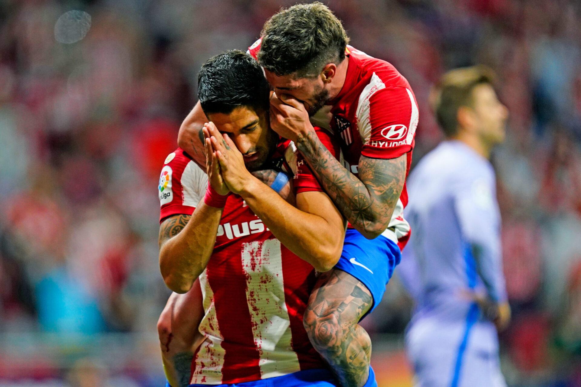 Luis Suarez n'a pas célébré son but face au FC Barcelone, le 02 octobre 2021 au Wanda Metropolitano. Icon Sport