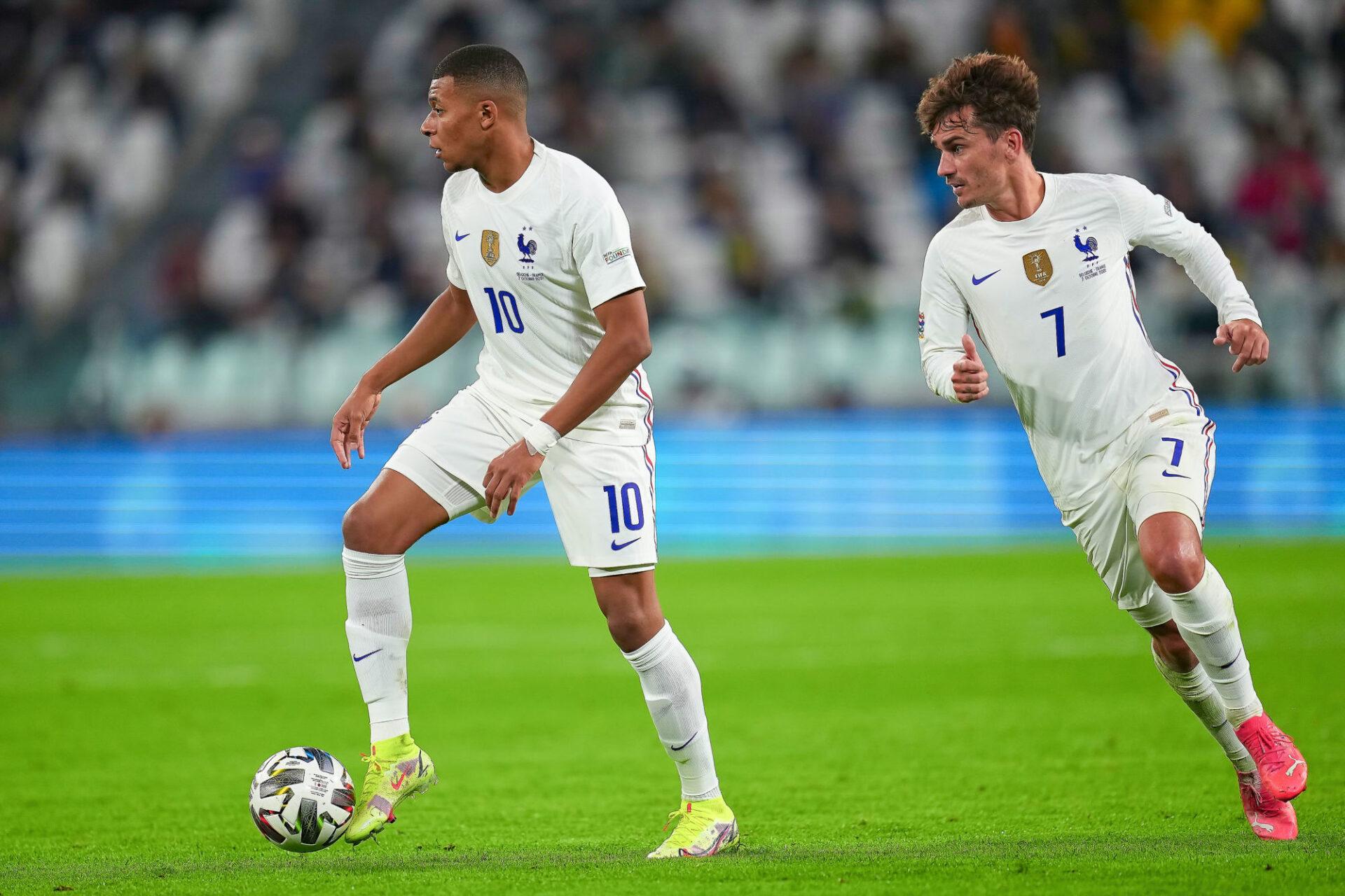Antoine Griezmann a défendu Kylian Mbappé, critiqué pendant l'Euro. Icon Sport