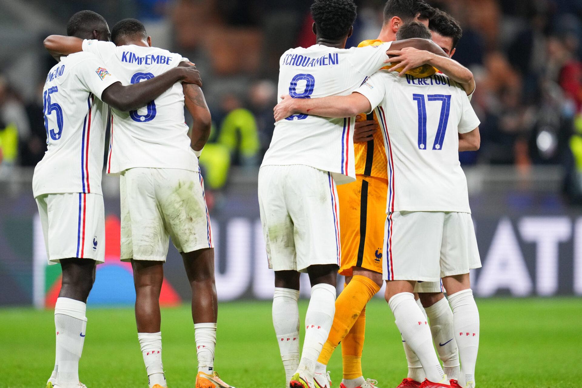 """Les Bleus ont prouvé """"qu'ils étaient toujours au haut niveau"""" , a affirmé Didier Deschamps. Icon Sport"""