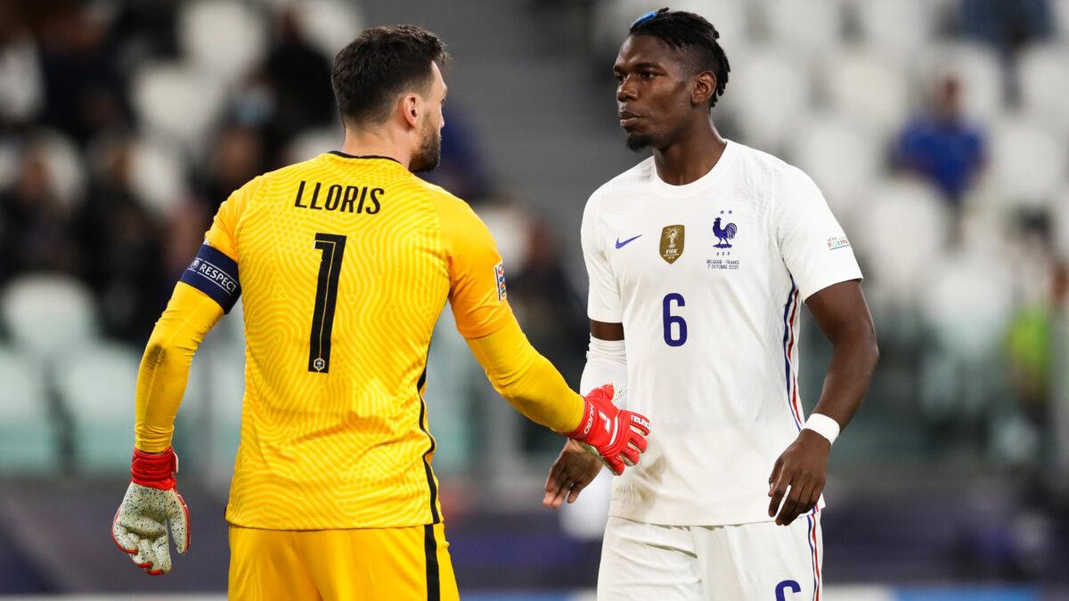 Hugo Lloris et Paul Pogba ont pris la parole à la mi-temps de Belgique - France ce jeudi 7 octobre (iconsport)