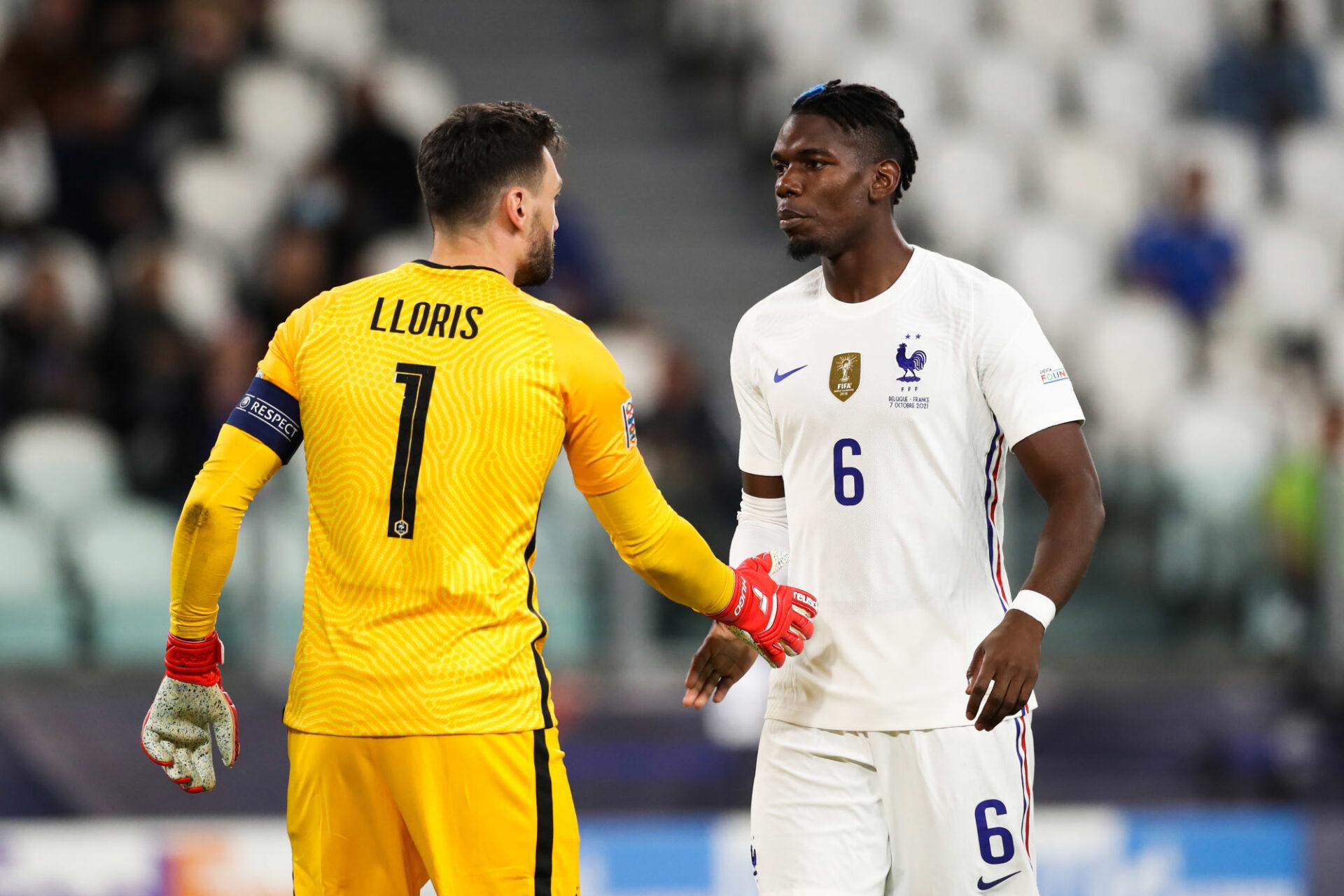 Hugo Lloris et Paul Pogba sont les tauliers des Bleus dans les vestiaires, et ils l'ont encore montré en reboostant leurs partenaires à la mi-temps contre la Belgique. Icon Sport