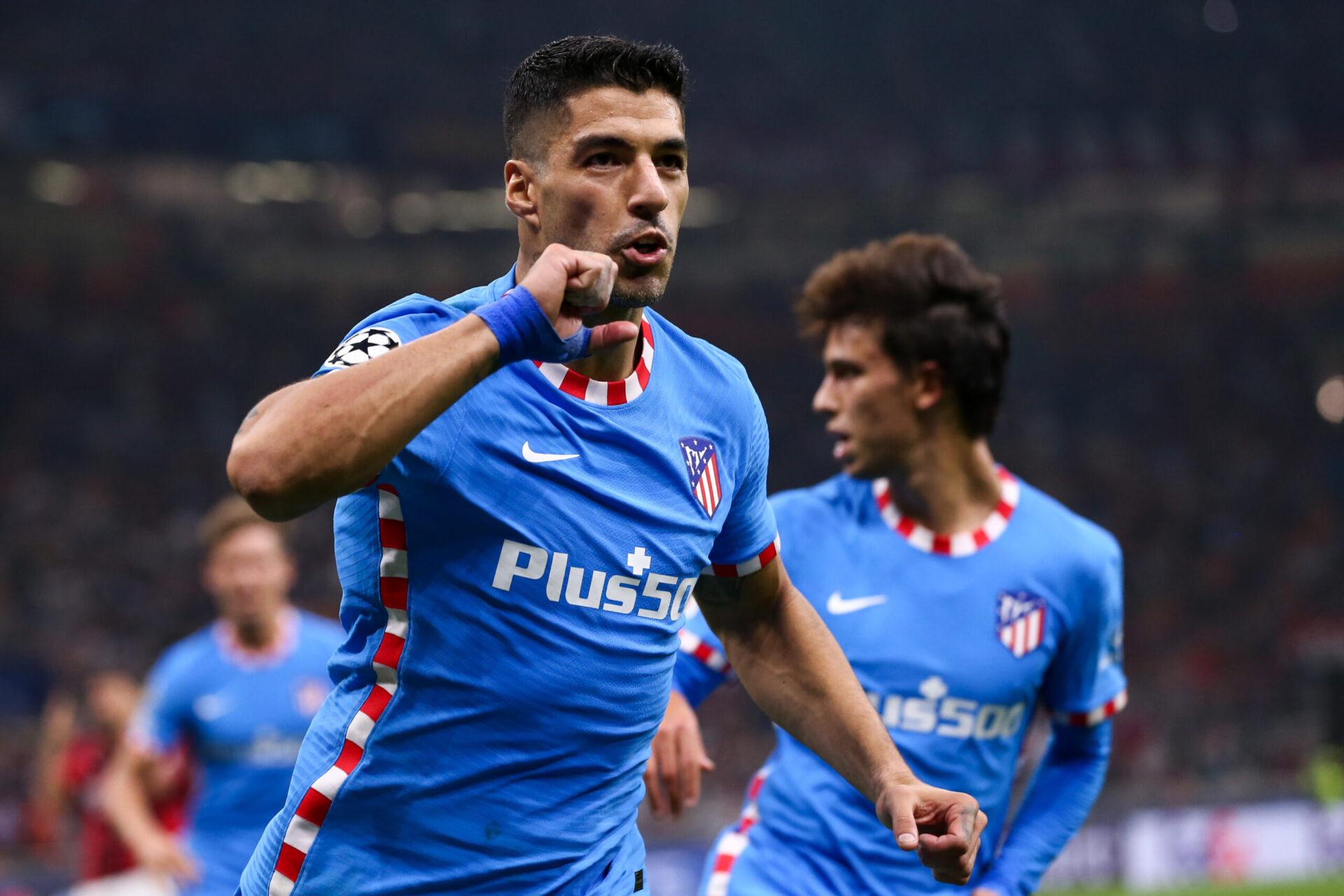 Luis Suarez lors du match de Ligue des Champions face à l'AC Milan (IconSport)