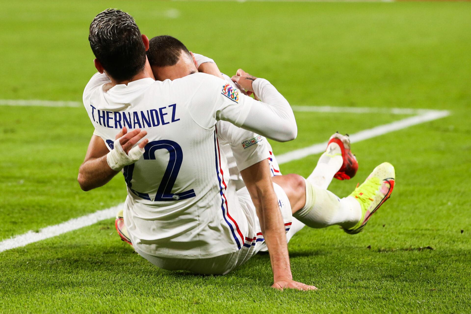 Théo Hernandez a donné la victoire à l'équipe de France dans les ultimes minutes de la rencontre face à la Belgique. Icon Sport
