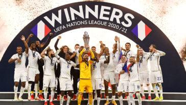 Les Bleus remettront leur titre en jeu en Ligue des nations dès le mois de juin 2022 à l'occasion du lancement de la 3ème édition (iconsport)
