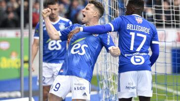Strasbourg s'est imposé face à une équipe de Saint-Etienne en difficulté (iconsport)