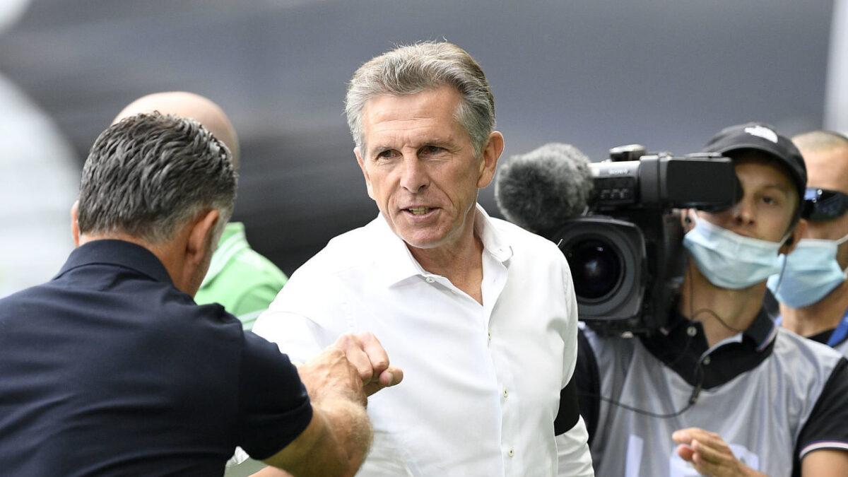 Claude Puel, l'entraîneur de l'AS Saint-Etienne. Icon Sport