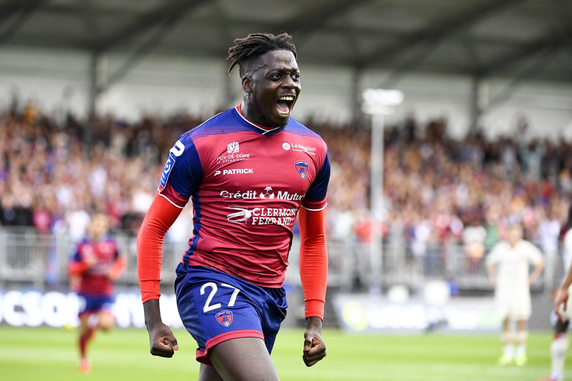 Mohamed Bayo fait le bonheur de Clermont, qu'il a porté en Ligue 1 pour la première fois de l'histoire du club. Icon Sport