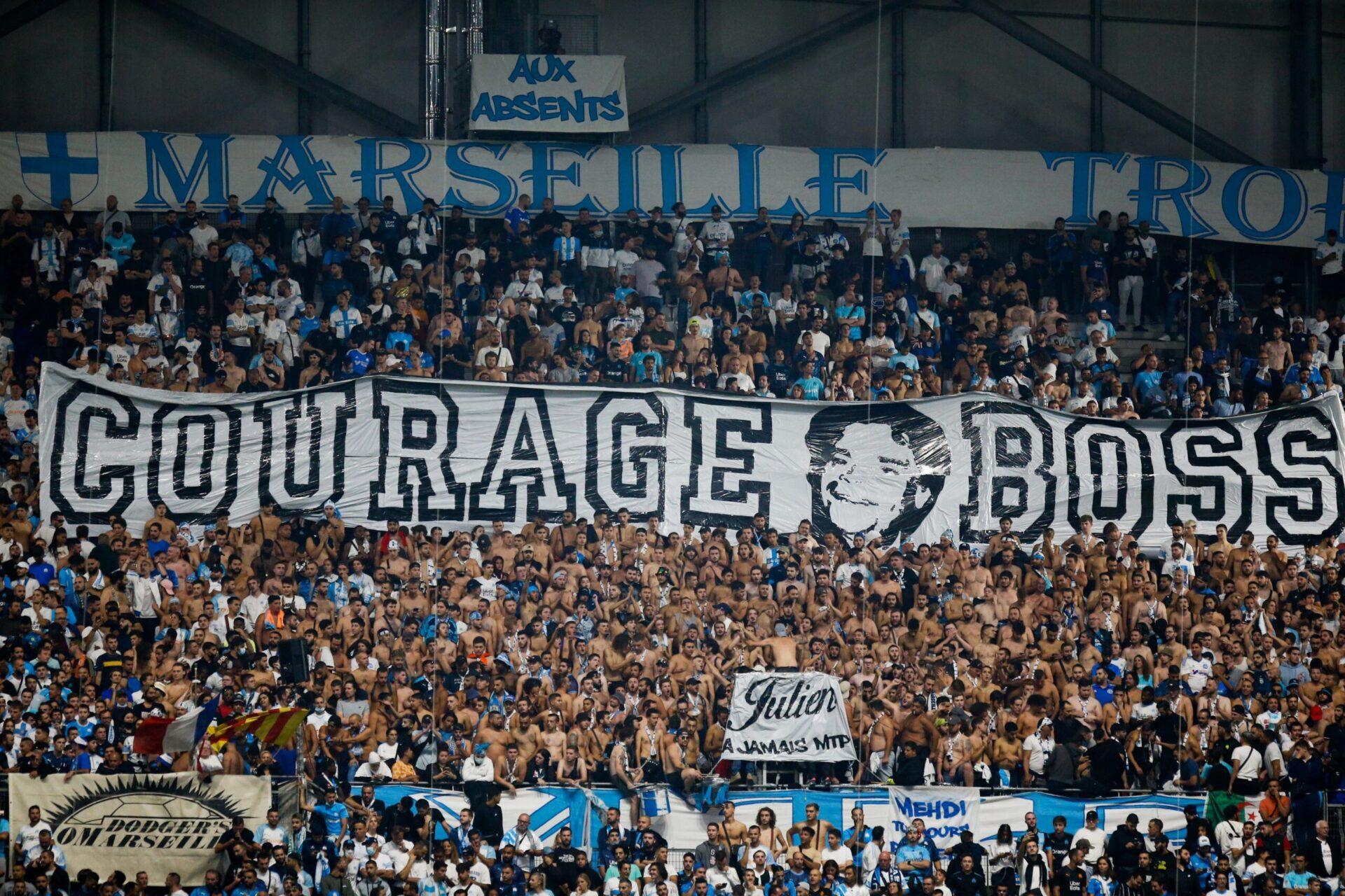 Les Marseillais avaient apporté leur soutien à Bernard Tapie (iconsport)