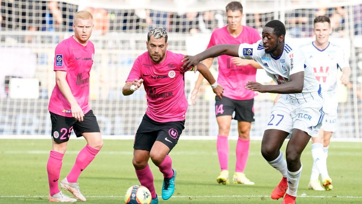 Téji Savanier n'a pas réussi à porter Montpellier vers la victoire contre Strasbourg. Icon Sport
